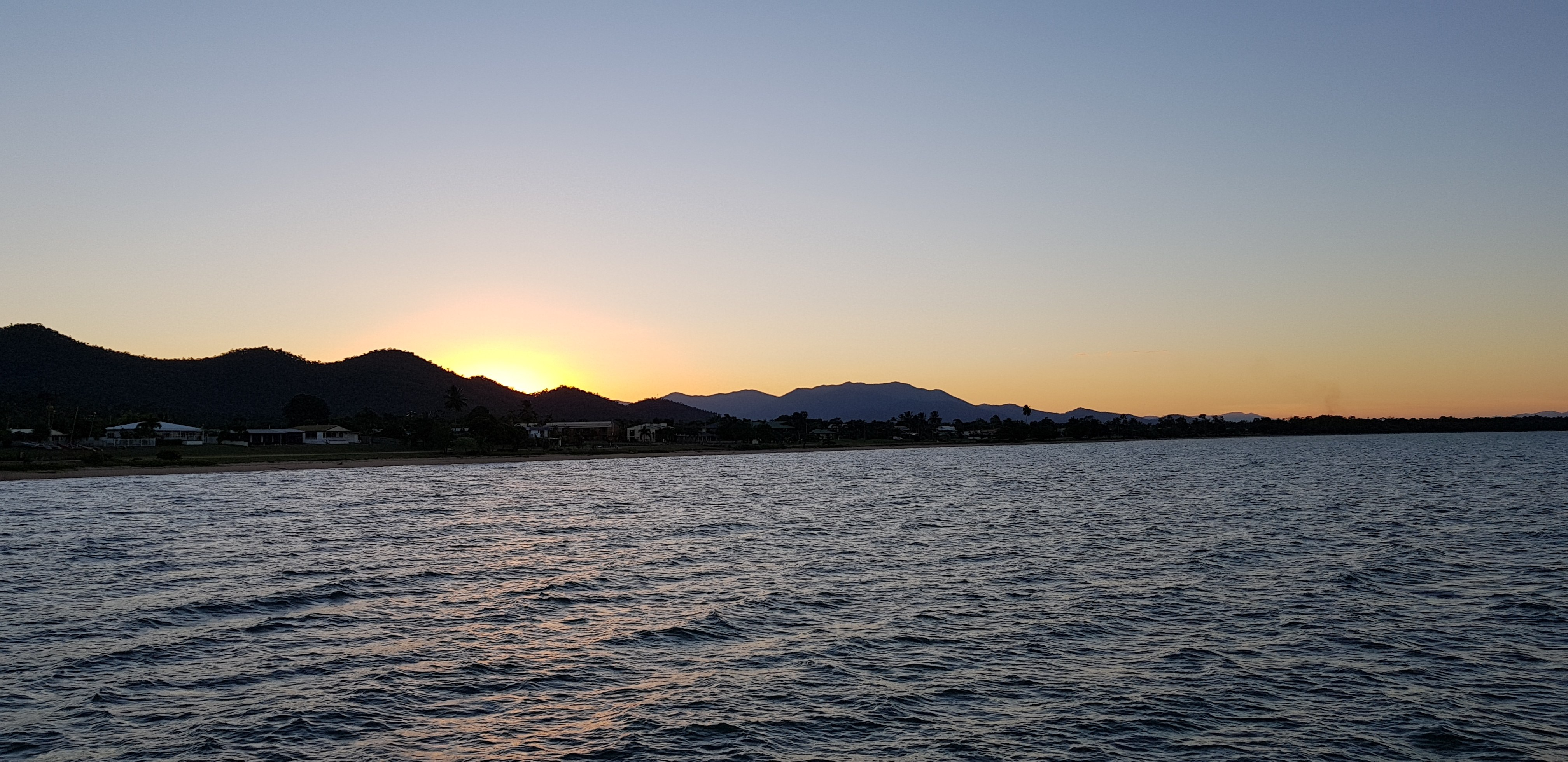 Sunset at Cardwell from the end of the jetty