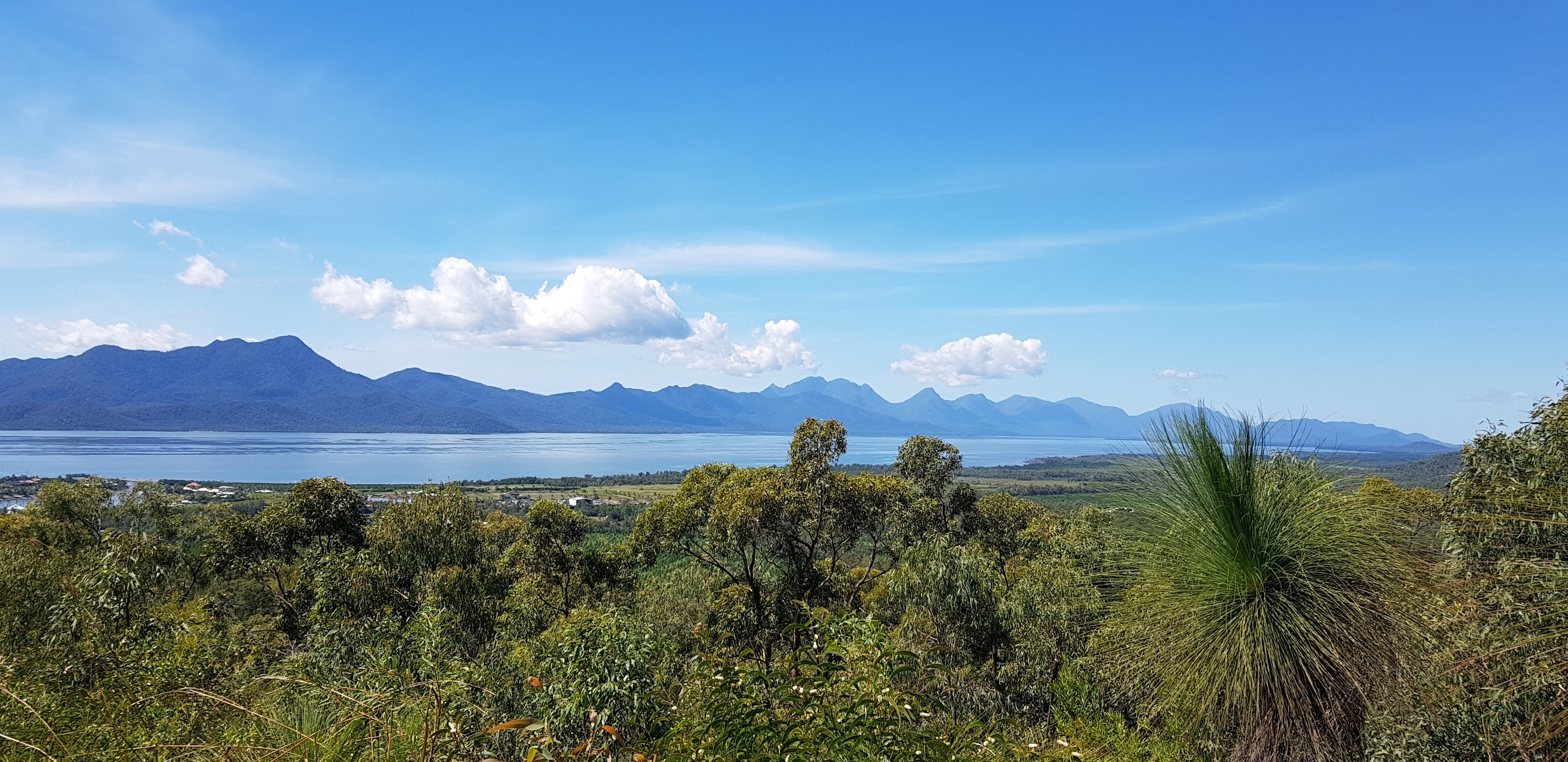 The view of Hichinbrook Island from Cardwell Lookout