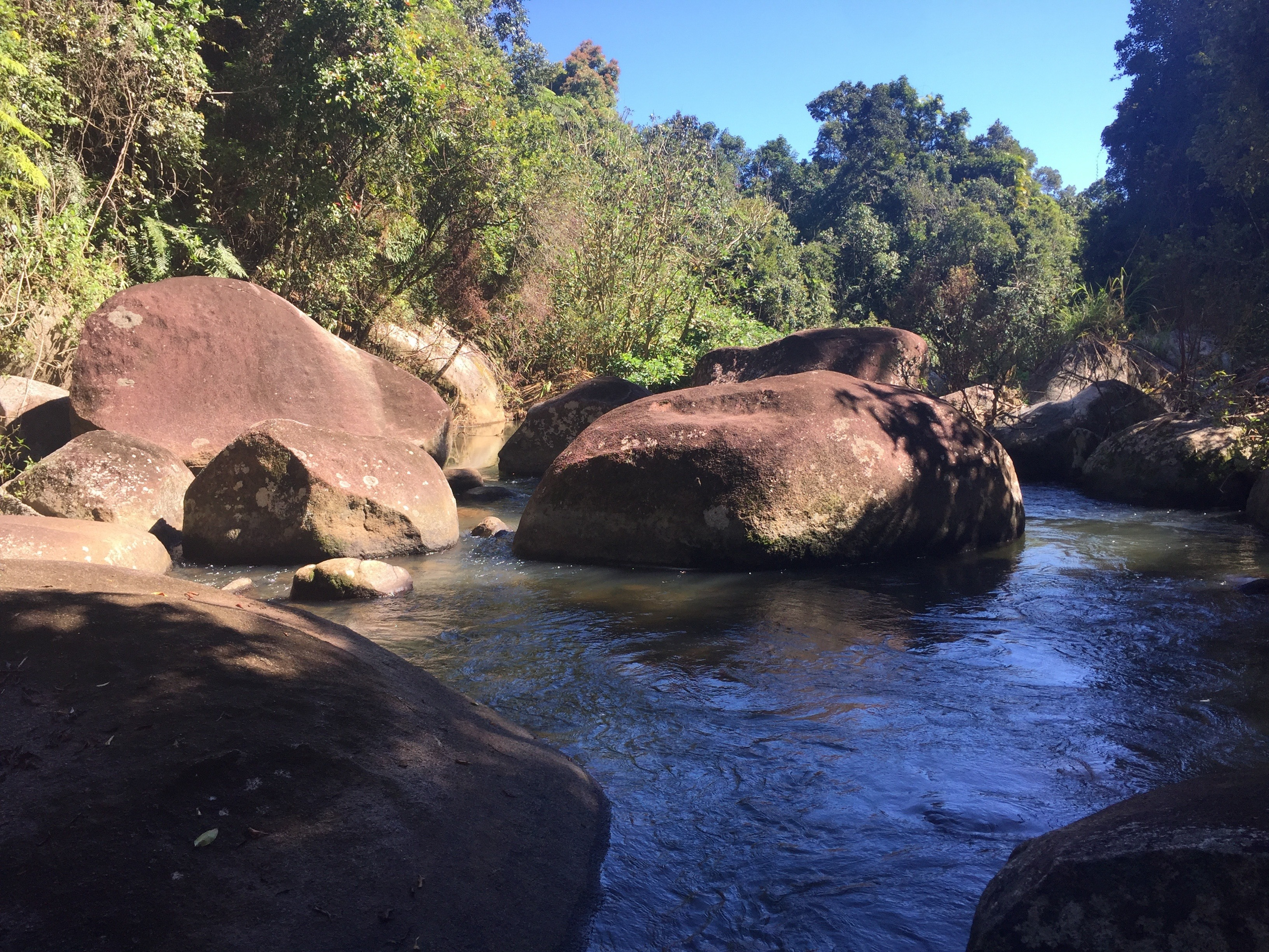 huge boulders in the river